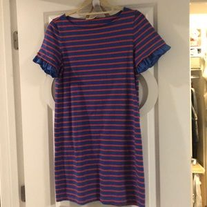 Tory Burch stripe t shirt dress ruffle sleeve